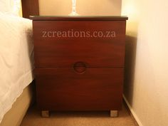 Veneer pedestal with glass top