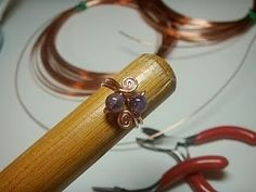 Wire ring tutorial #jewellery #beads #diy by gabrielle