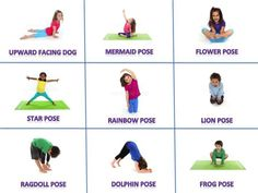 Yoga training to lose weight and belly fat - Yoga Poses For Kids Cards Place the cards in a messy Practice Yoga to Lose Weight - Yoga Fitness. Introducing a breakthrough program that melts away flab and reshapes your body in as little as one hour a week! Kids Yoga Poses, Yoga For Kids, Exercise For Kids, Calming Activities, Activities For Kids, Chico Yoga, Preschool Yoga, Toddler Yoga, Childrens Yoga