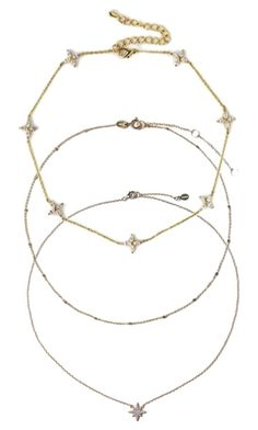 Layering Gold Chokers. Necklaces by Amy O. Jewelry