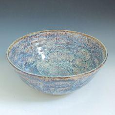 Large Ceramic Multicolored Serving Bowl