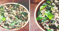 Quinoa Salad with Pine Nuts, Raisins, and Kale