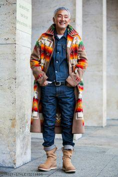 Berlin_Street_Style - Bob Trotta is a high end, men's fashion consultant Pendleton Coat, Rugged Style, Men Looks, Stylish Men, Mens Fashion, Fashion Coat, Men Dress, Style Me, Menswear