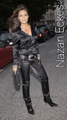 Sexy Older Women, Sexy Heels, Satin Dresses, Lady, Leather Pants, German, Celebrity, Long Hair Styles, Clothing