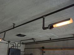 (株)EAGLEVALLEY ブランド名 SALVAGE 店舗施工例 3-20 インダストリアル照明 ガス管照明