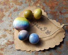Gaea Ceramic Bead and Art Studio Blog: Modern rainbow. Original and handmade rainbow inspired ceramic bead sets. gaea.cc