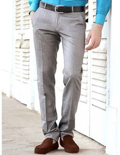 Buy Grey Formal Pants Online. http://www.bharatplaza.com/mens-wear/trousers.html