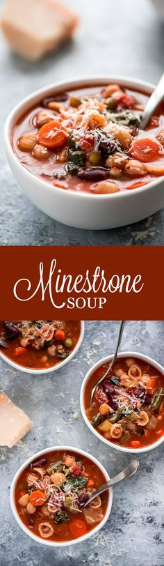 Warm up on a cold winter day with this healthy Minestrone Soup. This flavorful Italian soup is packed with various vegetables, broth, beans, and pasta.
