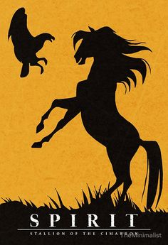 Spirit : Stallion of the Cimarron Minimalist Poster Spirit: Hengst des Cimarron Minimalist Poster Spirit The Horse, Spirit And Rain, Spirit Animal, Spirit Horse Movie, Caballo Spirit, Minimalist Poster Design, Disney Canvas Art, Aladin, Spirit Tattoo