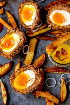 Chorizo Scotch Eggs with Smoky Wedges