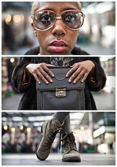 Triptychs of Strangers #23, The Kharise Francis herself - London by theblackstar, via Flickr