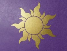 Rapunzel / Tangled Royal Sun Insignia Wall Decal / Stickers for Girl's Room. $14.99, via Etsy.