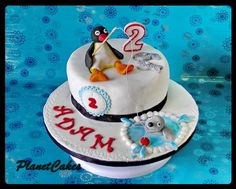 PinGu Penguin Cakes, Penguin Party, Boy Birthday, Birthday Ideas, Birthday Cake, Cake Decorating, Decorating Ideas, Cake Art, Chocolate Cake