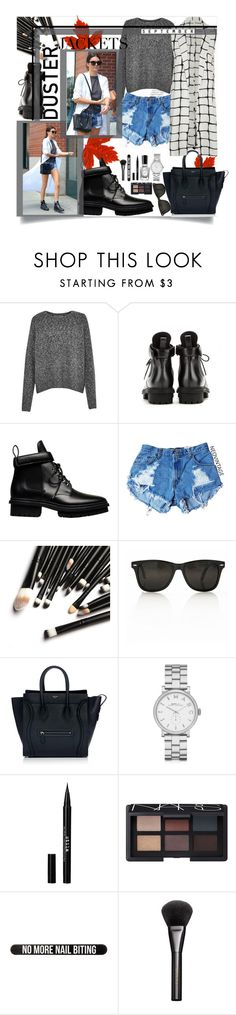 """""""Duster jackets 2#"""" by mariamharrasova ❤ liked on Polyvore featuring French Connection, Balenciaga, CÉLINE, Marc by Marc Jacobs, Sally Hansen, Stila, NARS Cosmetics, Bershka and Gucci"""