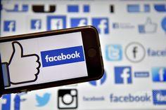 スマートフォンの画面に表示されたフェイスブックのロゴ。フランス西部ベルトゥーで。(2016年12月28日撮影、資料写真)。(c)AFP/LOIC VENANCE ▼9Feb2017AFP|フェイスブック、災害時にユーザー同士の支援可能に 新機能追加 http://www.afpbb.com/articles/-/3117150 #Facebook
