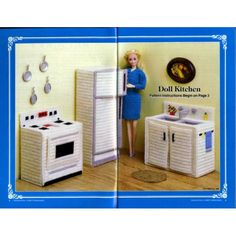 Free Plastic Canvas Barbie Furniture | Home » Barbie Doll Furniture Plastic Canvas Patterns Kitchen Bedroom ...