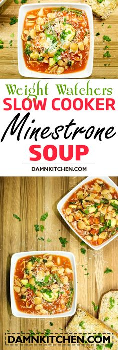 weight watchers recipes with points Slow Cooker Minestrone Soup (Weight Watchers)