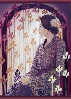 Madame Butterfly Art Deco Goddess  by Emily Balivet