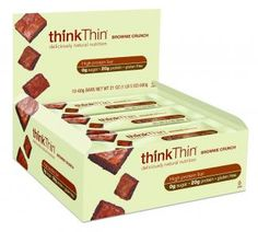 Think thin brownie crunch protein bar box picture