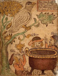 Folk-stories of Iceland: Norse mythology image from the 18th century Icelandic manuscript
