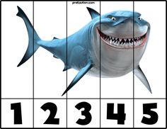 FREE! Nemo | #1-5 Puzzles - Autism & Education Pool Activities, Autism Activities, Infant Activities, Baby Activites, Disney Activities, Counting Puzzles, Number Puzzles, Autism Education, Education And Literacy