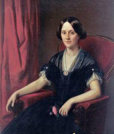 """Franz """"François"""" Fleischbein (German-born, American pairnter 1801-1868) Rosalie Jonas"""