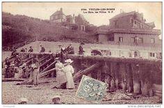 """Veules-les-roses. Emile Zola """"La joie de vivre"""", le projet de Lazare : """"(...) de gros pieux enfoncés dans le sable,recouverts de planches,et derrière lesquels les galets, apportés par le flot,formeraient une barrière inexpugnable,où se briseraient ensuite les vagues(...)"""""""