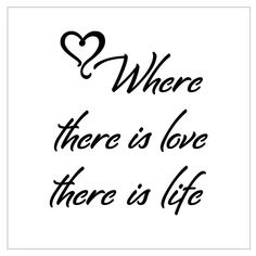 "4x4 ""Where there is love there is life"" laser cut stencil by PearlDesignStudio on Etsy"