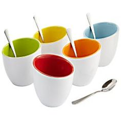 Pier 1 Cups with Spoons Set