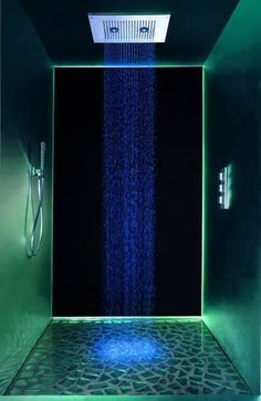elegant showers with neon lights