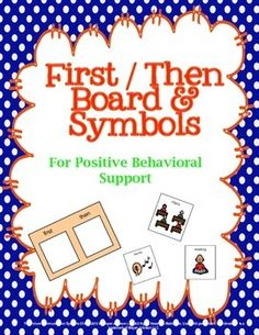 Autism First Then Boards and Symbols are a visual schedule of what is expected to be done first in order to move on to the next item.Good to use with individuals with:     *Autism     *Limited Attention     *Behavioral ConcernsCONTAINS:2 small First/Then boards of the same size with different colors with 24 symbols to fit.