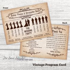 Vintage Style Ceremony Program by HeSawSparks on Etsy, $50.00