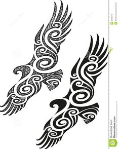 Maori Tattoo Pattern - Eagle - Download From Over 45 Million High Quality Stock Photos, Images, Vectors. Sign up for FREE today. Image: 35385515