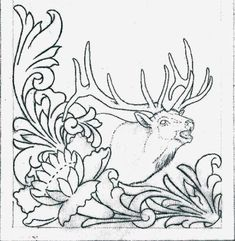 Free Leathercraft Pattern for Figure Carving the Rocky Mountain Elk PatternYou can find Leather tooling and more on our website.Free L. Leather Carving, Leather Art, Custom Leather, Leather Tooling, Handmade Leather, Leather Jewelry, Sewing Leather, Tooled Leather, Leather Design