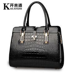 kly 2015 nuevo cocodrilo brillante charol patrón de hombro bolso portátil bolso del estilo europeo ® – MXN $ 219.66
