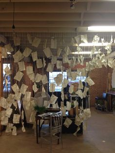 Paper wall