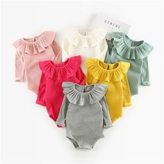Cheap baby clothes, Buy Quality newborn baby clothes directly from China newborn baby clothes girl Suppliers: Summer Baby Girl Rompers Autumn Princess Newborn Baby Clothes For Girls Boys Long Sleeve Jumpsuit Kids Baby Outfits Clothes Overall Kind, Toddler Girl, Baby Kids, Infant Girls, Kids Girls, Baby Girl Winter, Winter Newborn, Knitted Romper, Ruffle Romper
