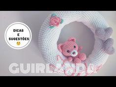 Guirlanda de maternidade em amigurumi - YouTube Crochet Wreath, Diy Crochet, Crochet Crafts, Amigurumi Tutorial, Amigurumi Patterns, Baby Shawer, Baby Kids, Baby Crafts, Diy And Crafts