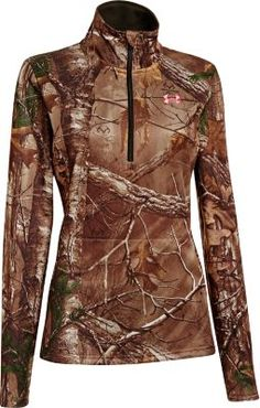 Stay in the field longer no matter what Mother Nature throws at you with the Women's Camo Performance 1/4-Zip Pullover from Under Armour.