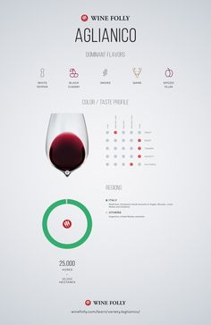 Aglianico Wine Taste Profile by Wine Folly #Wine #Wineeducation #Italy