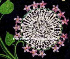 Violet doily free vintage crochet doilies patterns