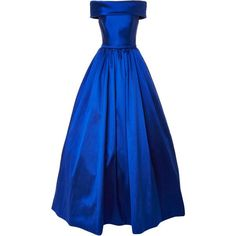 Off-Shoulder Ball Gown | Moda Operandi ❤ liked on Polyvore featuring dresses, gowns, off shoulder dress, royal blue ball gown, floor length gowns, off shoulder gown and floor length ball gowns