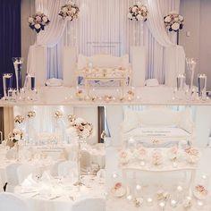 Hochzeitsdekoration by Inna Wiebe - Eventdekoration Munich/Germany www.innawiebe.com #wedding #hochzeit #münchen #brautpaartisch #blumen #rose #pfingstrosen #hortensie #kerzen #vase #rosa #weiß #flower #sweetdreams #flowers