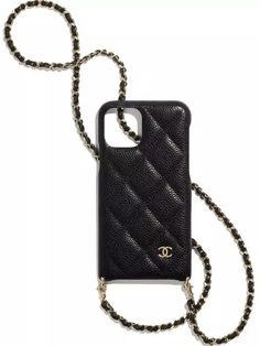 Chanel Phone Case, Leather Phone Case, Iphone Accessories, Chanel Handbags, Iphone Phone Cases, Chain, Lois Lane, Ootd, Black Card