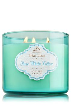Bath and Body Works 3-Wick Candle in Pure White Cotton (14.5oz/411g) * Read more  at the image link.