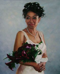 bridal portrait in oil........#weddingportrait #paint #painting #paintyourlife