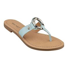 Nine West Womens Sibeal Dress SandalBlue10 M US >>> For more information, visit image link. (This is an affiliate link) #WomensFlatsSandals