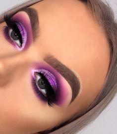 makeup zendaya makeup chart makeup monolid makeup look kajal eye makeup makeup style makeup 2018 makeup remover Makeup Eye Looks, Purple Eye Makeup, Colorful Eye Makeup, Cute Makeup, Glam Makeup, Skin Makeup, Makeup Inspo, Eyeshadow Makeup, Makeup Art