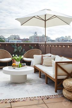 Interior designer Andrea Jaramillo gives her clients a bohemian rooftop escape outside their Clinton Hill condo.