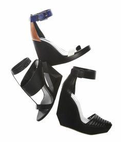 #BCBG #Spring2014 #bonchic #accessories #wedges #shoes #black